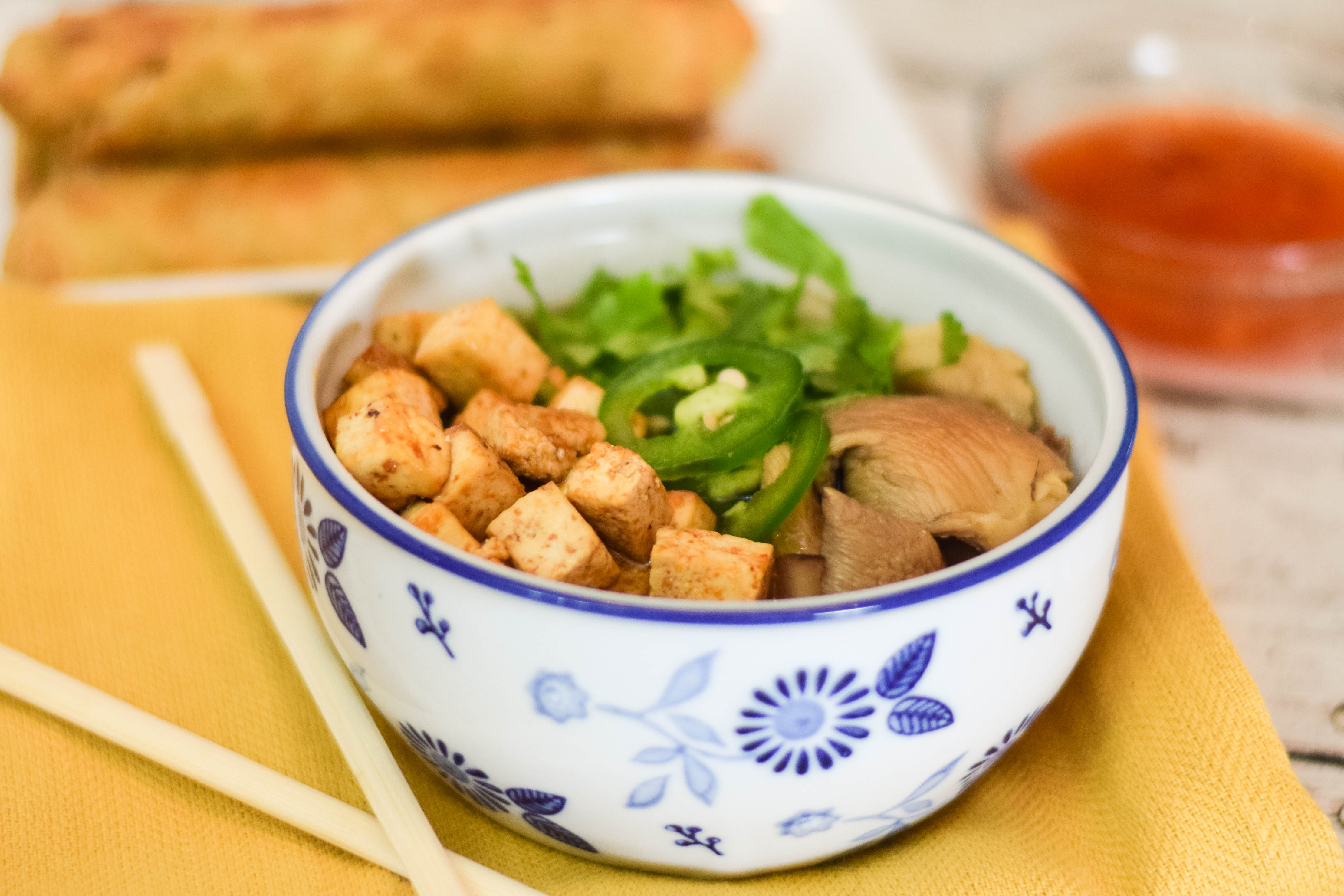 Miso Tofu Noodle Soup