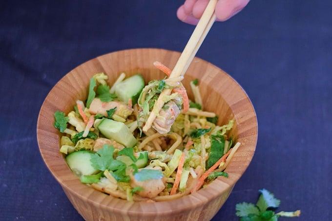 Chicken Noodle Salad Bowl
