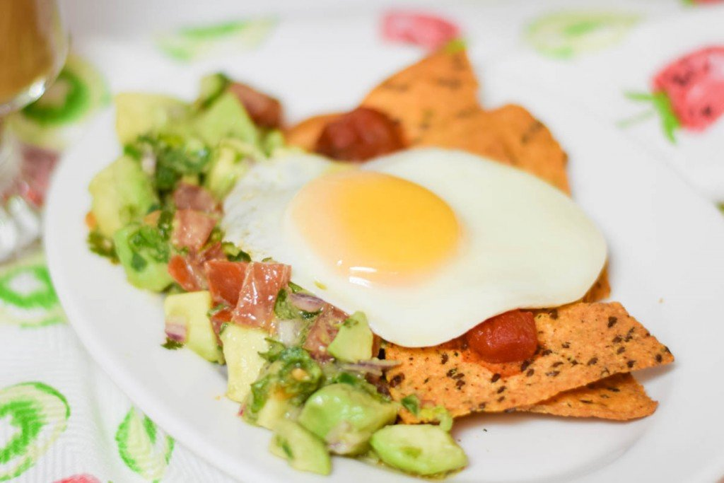 Avocado Egg Chilaquiles
