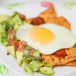 Avocado Egg Chilaquiles #SundaySupper