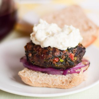 Greek Sliders with Feta Aioli #SundaySupper
