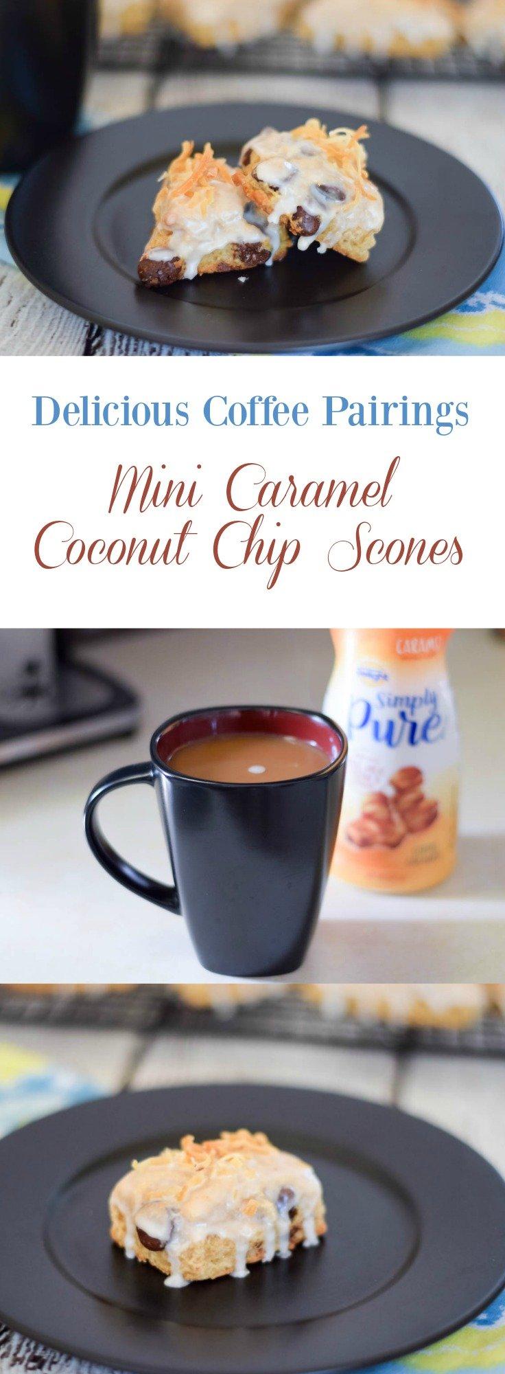 Mini Caramel Coconut Chip Scones