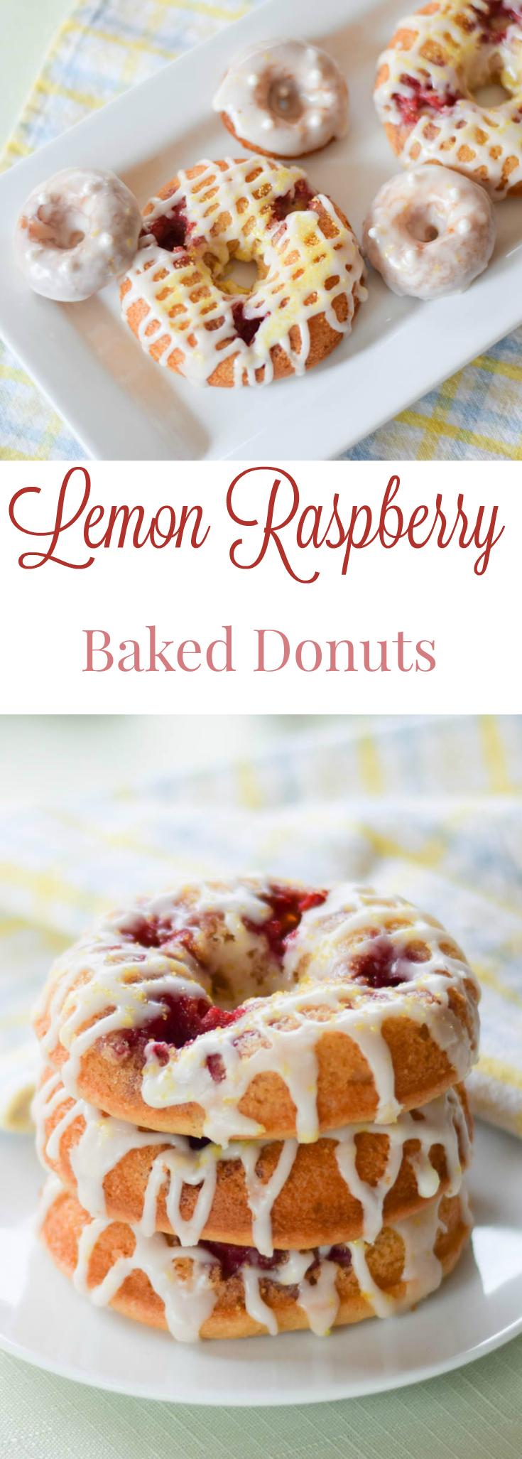 Raspberry Lemon Baked Donuts