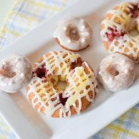 Raspberry Lemon Baked Donuts