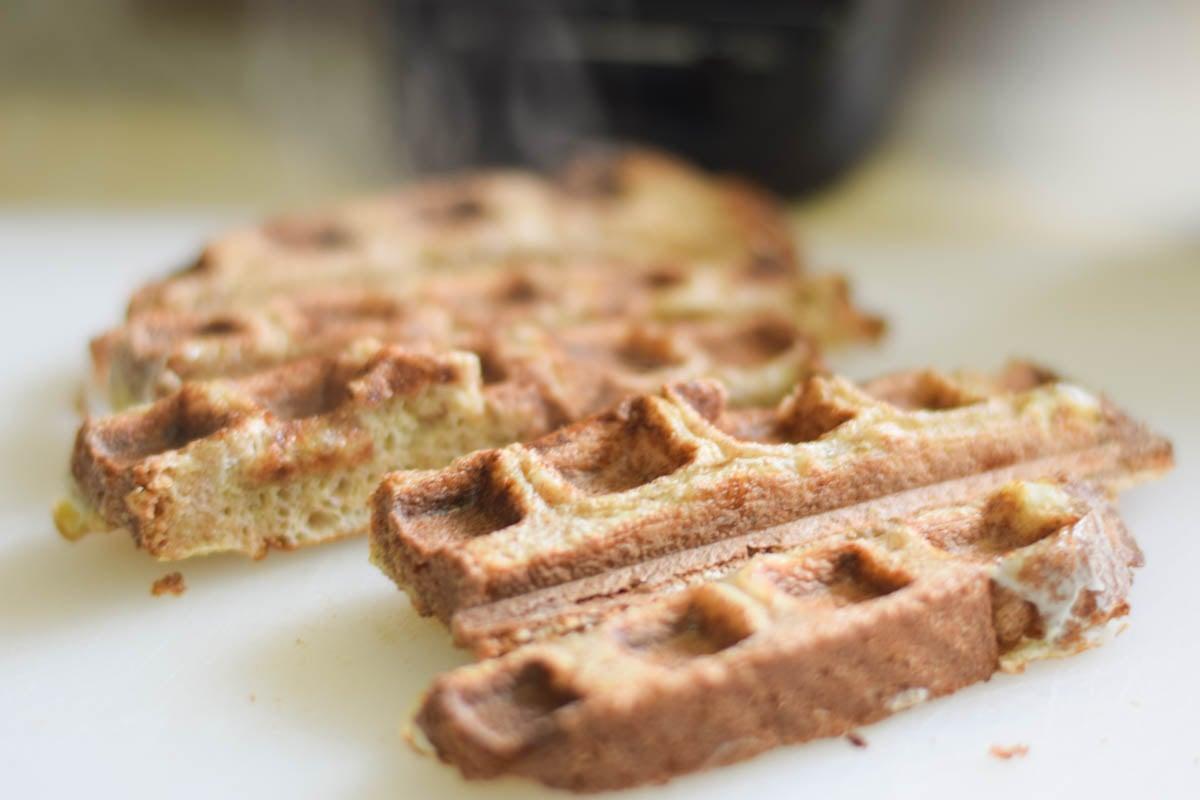 Waffled French Toast with Meyer Lemon Maple Syrup