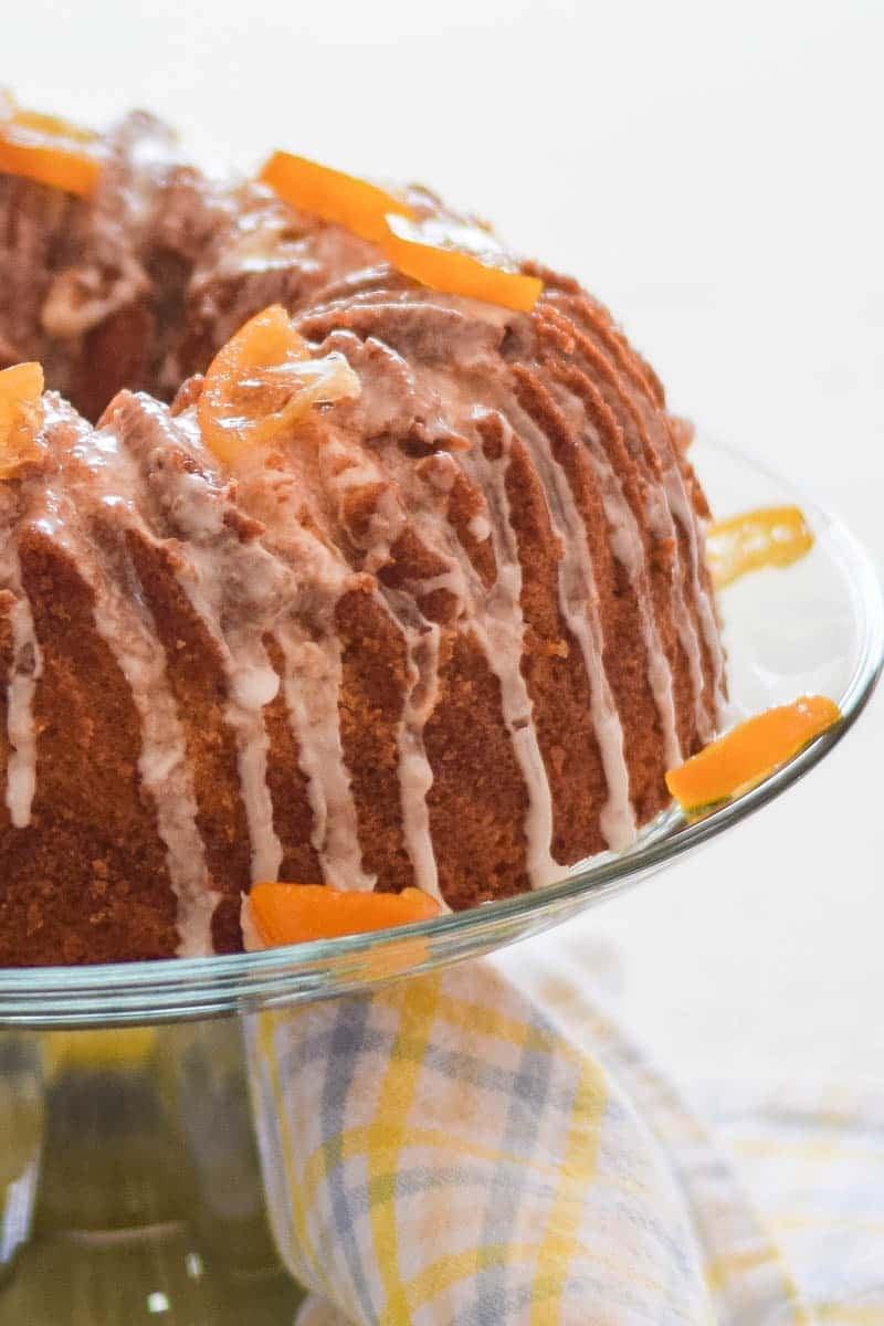 Rustic Pound Cake with Meyer Lemon Glaze