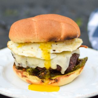 Hearty Bacon Egg & Cheese Burger
