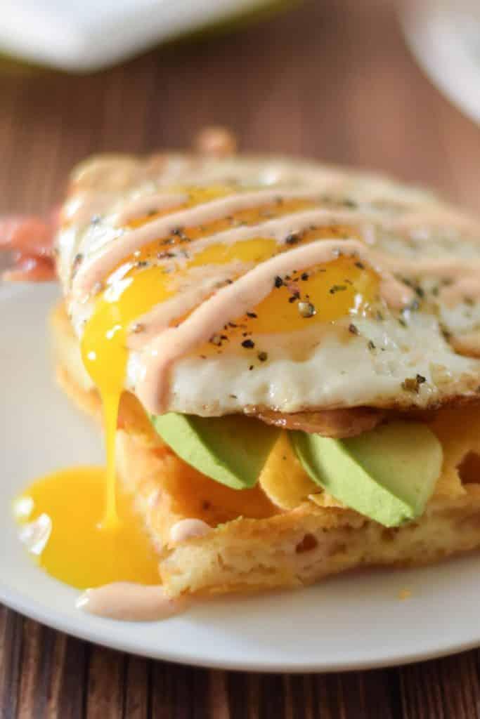 Asiago Waffle Egg Chaffle Sandwiches