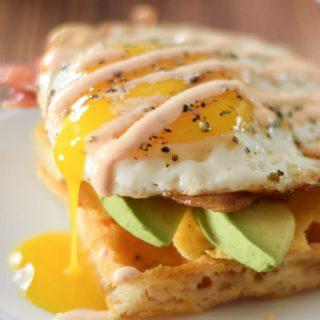 Asiago Waffle Egg Sandwich