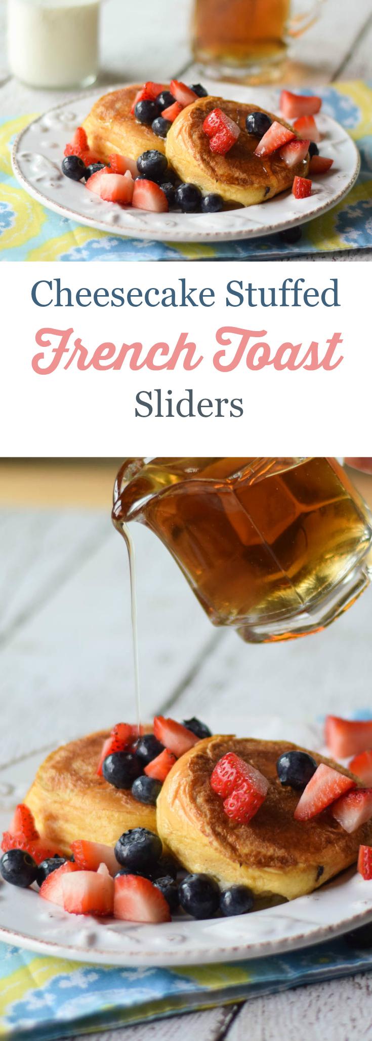Cheesecake Stuffed French Toast Sliders
