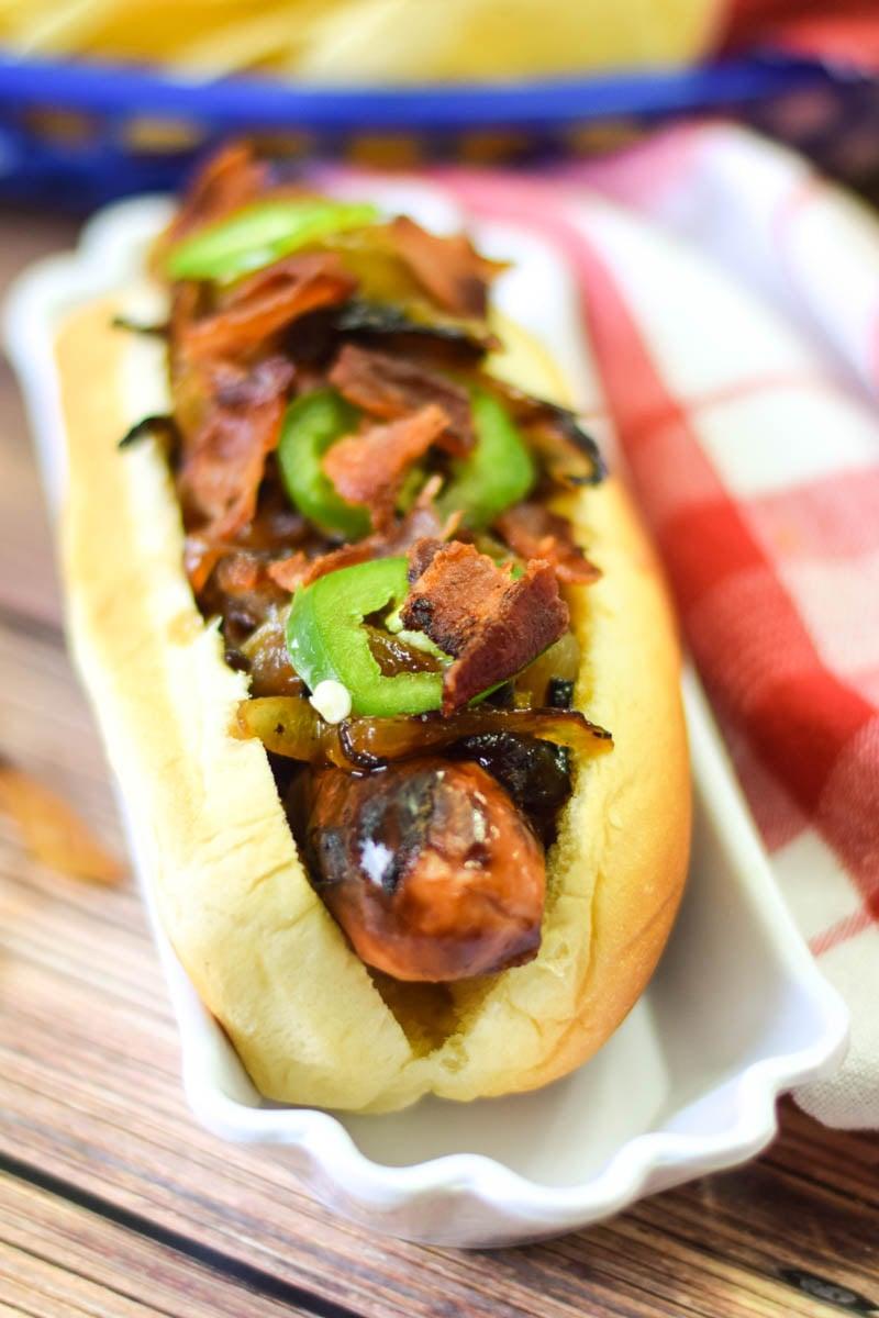 Bourbon Onion Bacon Dog