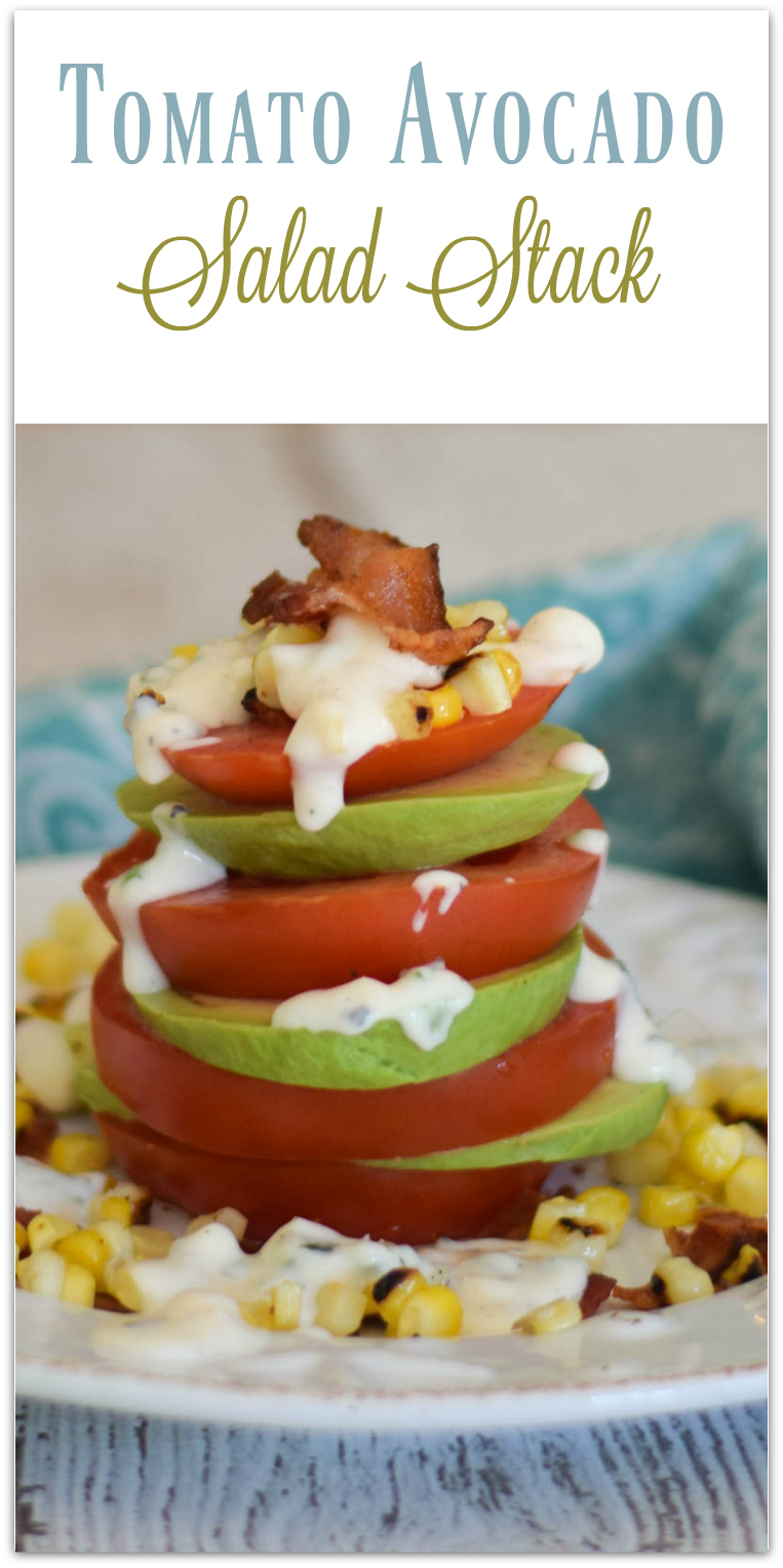 Tomato Avocado Salad Stack