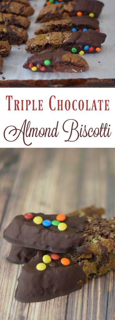 Triple Chocolate Almond Biscotti