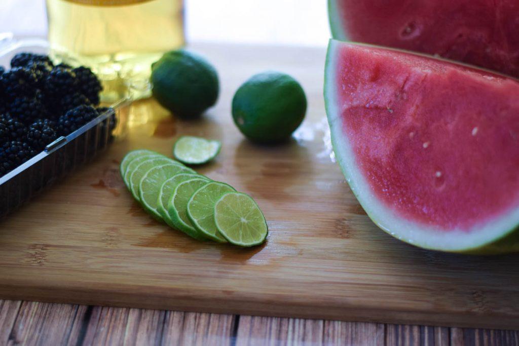 Watermelon Lime-Berry Sangria