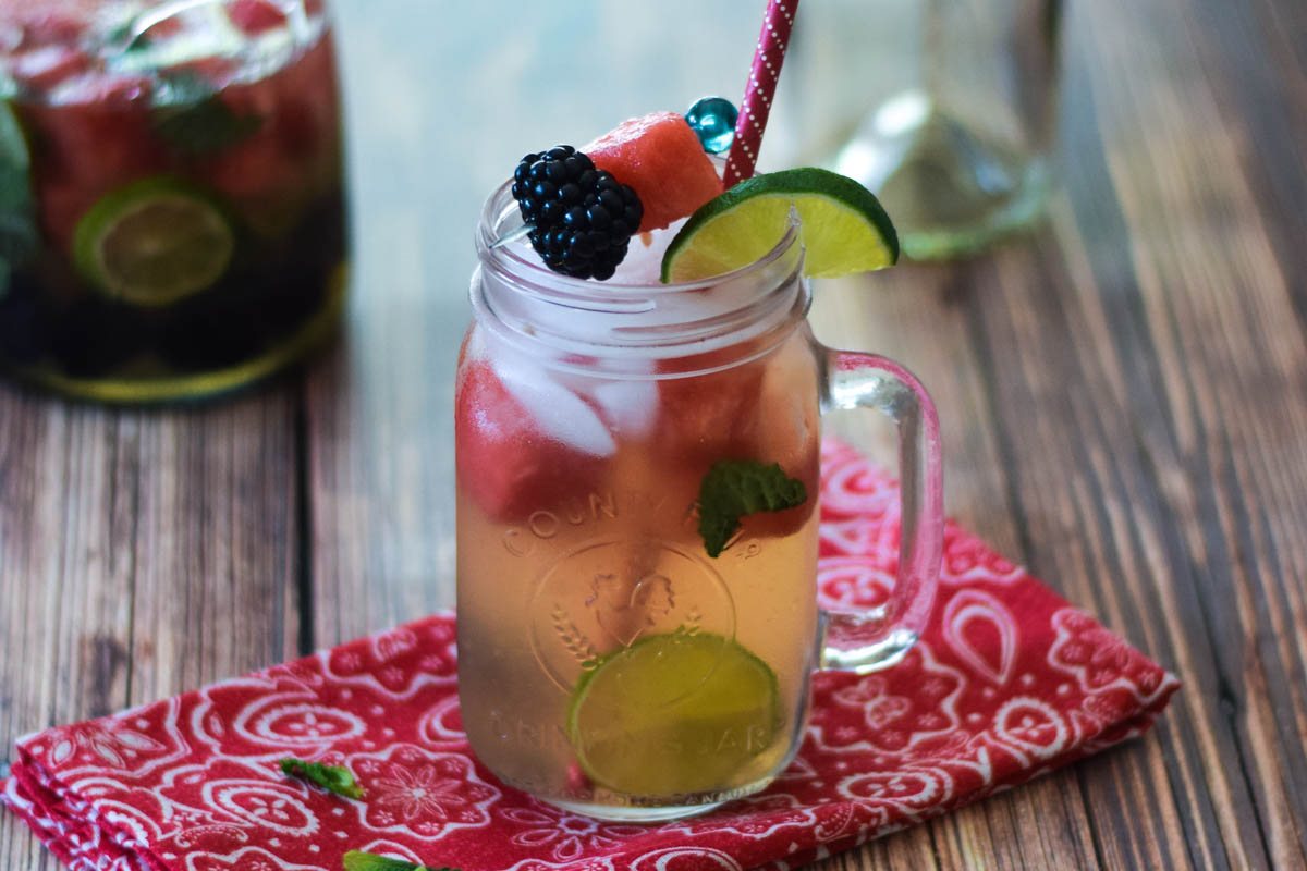 Watermelon Lime-Berry Sangria
