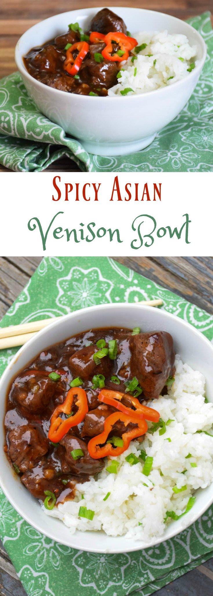 Spicy Asian Venison Bowl