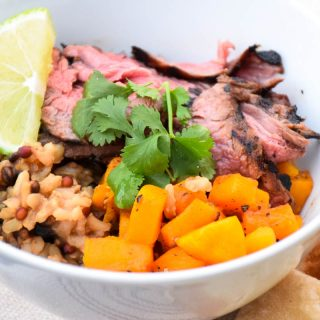 Beef Butternut Rice Bowl