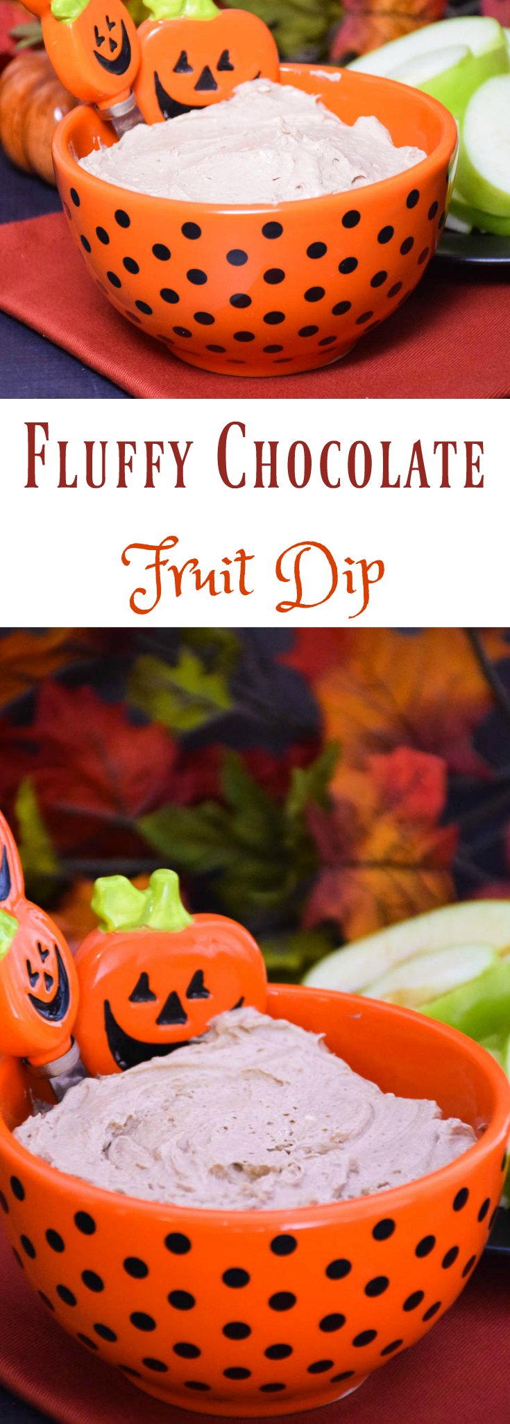 Fluffy Chocolate Fruit Dip