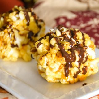 Honey Popcorn Ball Bites