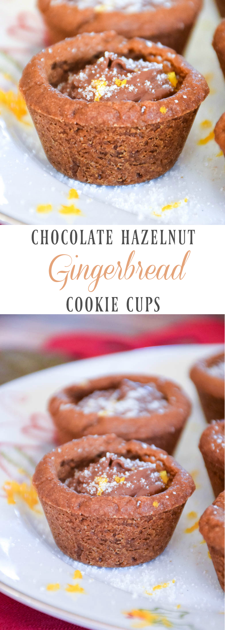 Chocolate Hazelnut Gingerbread Cookie Cups - Grumpy's Honey Bunch