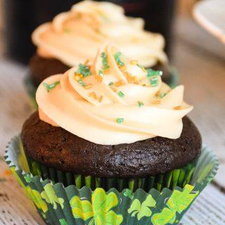 Chocolate Cupcakes with Bailey's Irish Cream Frosting