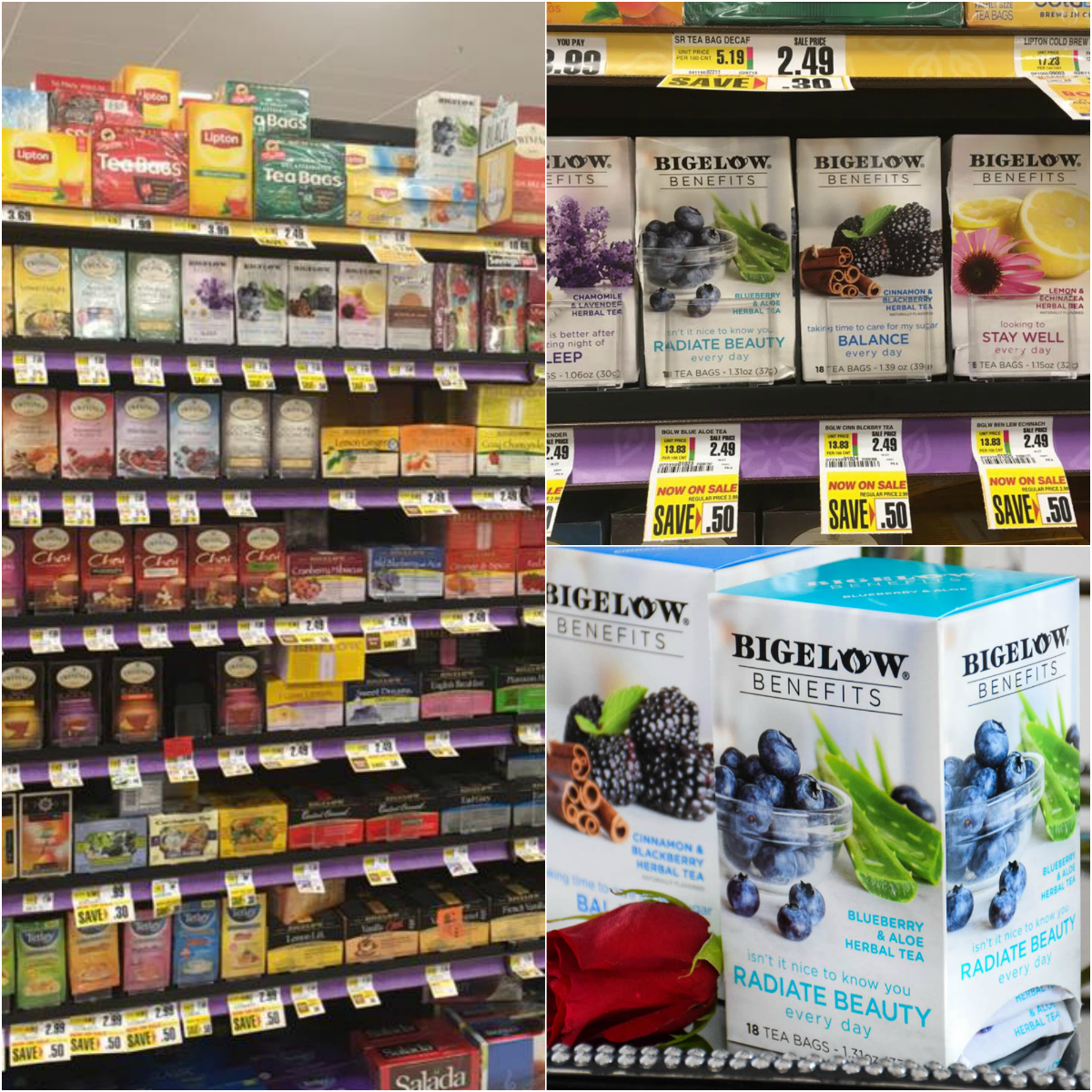Bigelow herbal tea - Bigelow Benefits Offers 6 Herbal And 1 Green Tea And I Found My Teas While Shopping At My Local Shoprite