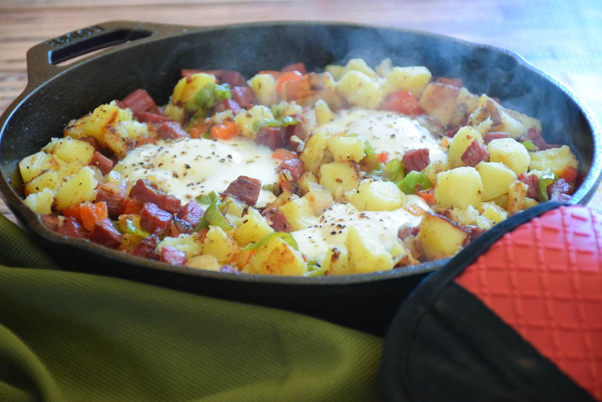 Homemade Corned Beef Hash and Eggs