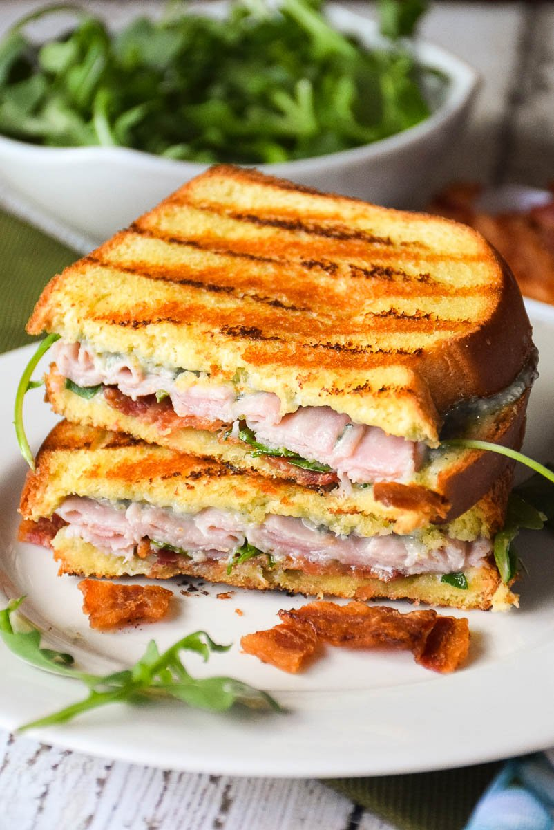 Grilled Ham, Bacon and Blue Cheese Sandwich