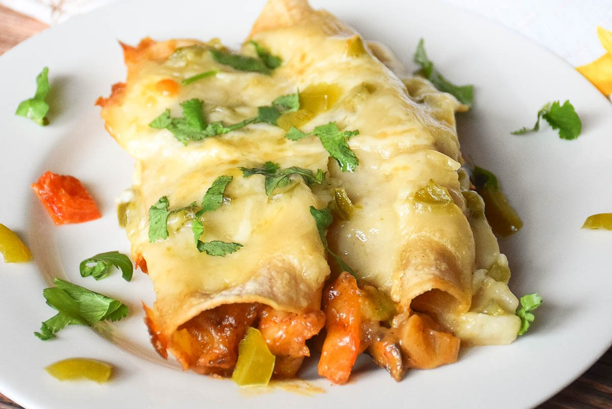 Roasted Shrimp Enchiladas