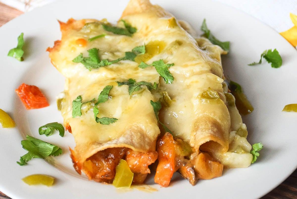 Roasted Shrimp Enchiladas