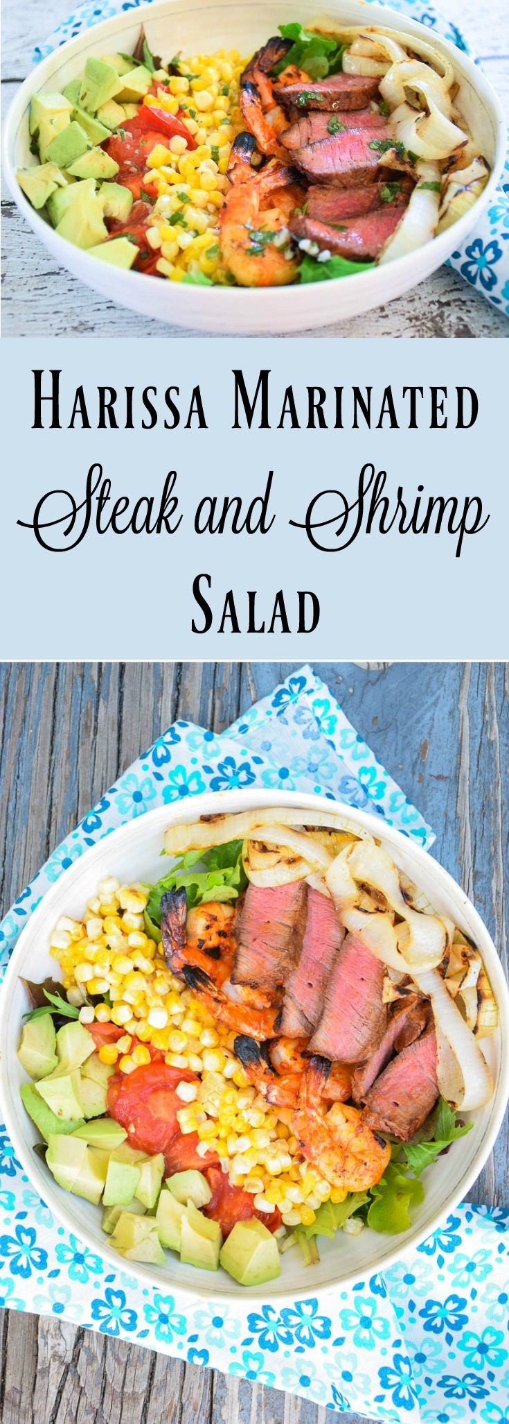Harissa Marinated Steak And Shrimp Salad With Cilantro Lime Dressing Grumpy S Honeybunch