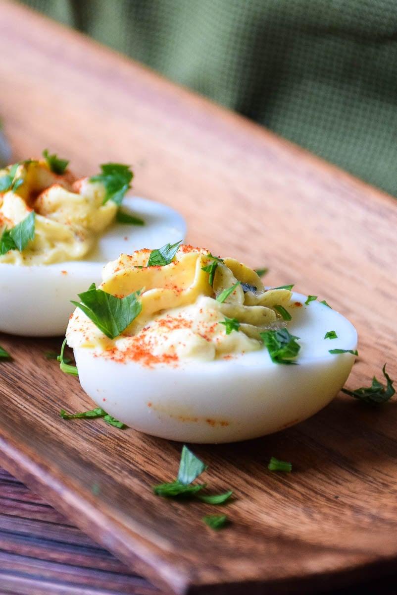 Mom's Italian Style Deviled Eggs