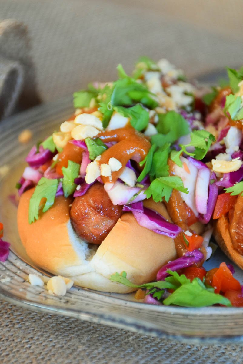 Thai Style Hot Dogs