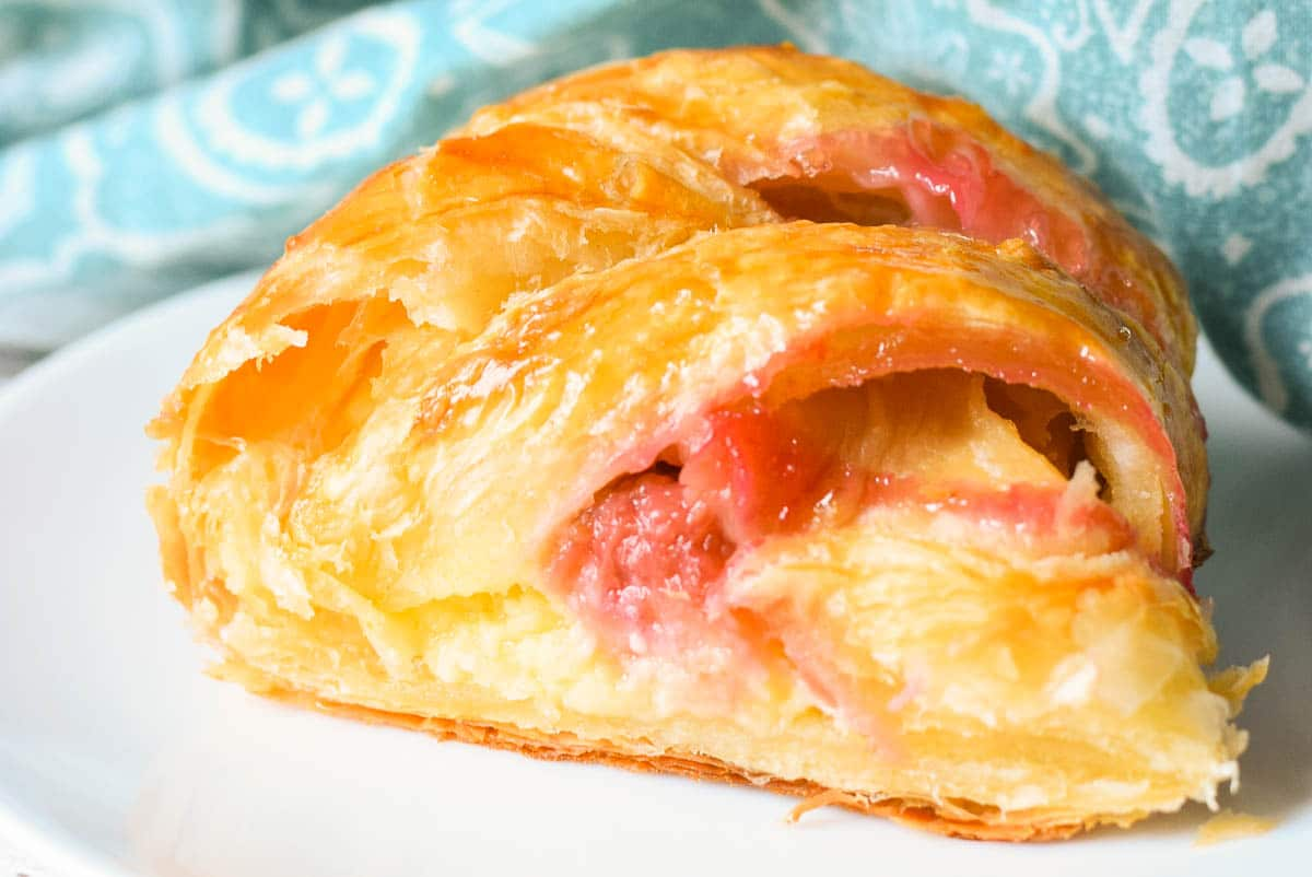 Rhubarb Cheese Danish