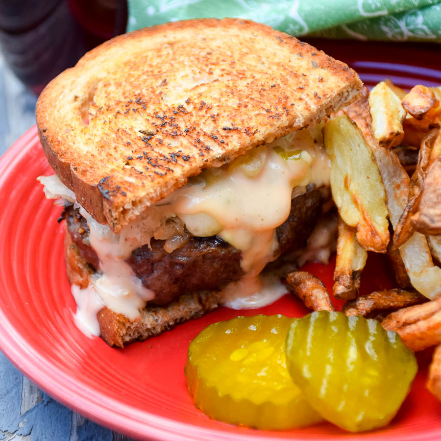 Grilled Reuben Burger