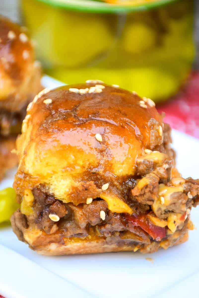 Peperoncini Barbecue Cheeseburger Sliders