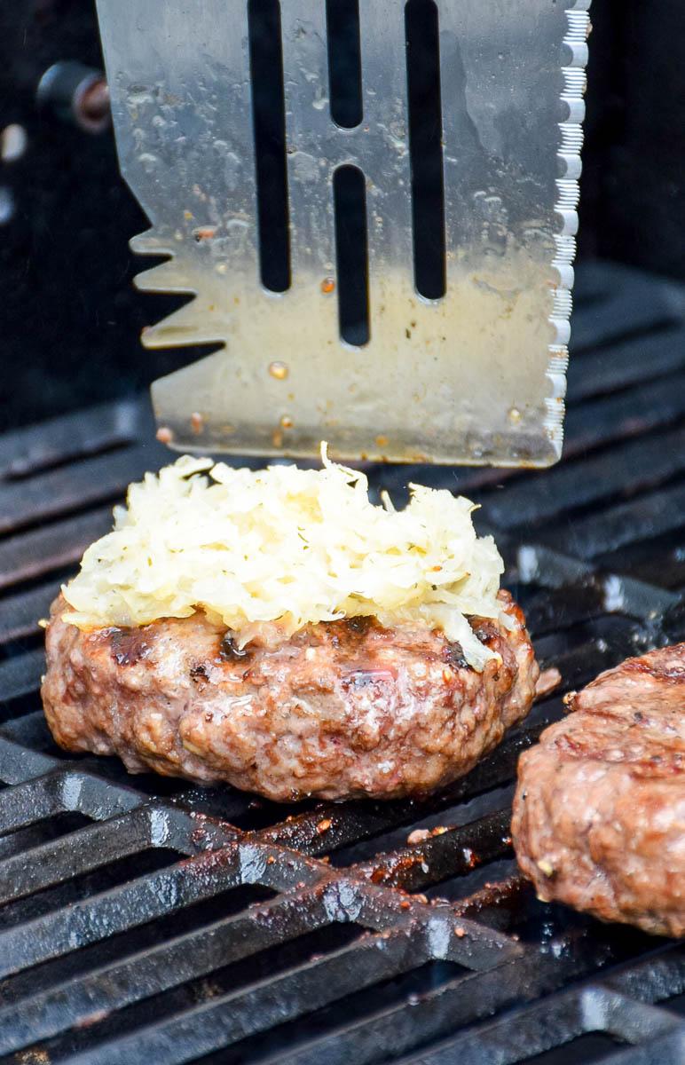 Grilled Reuben Burger