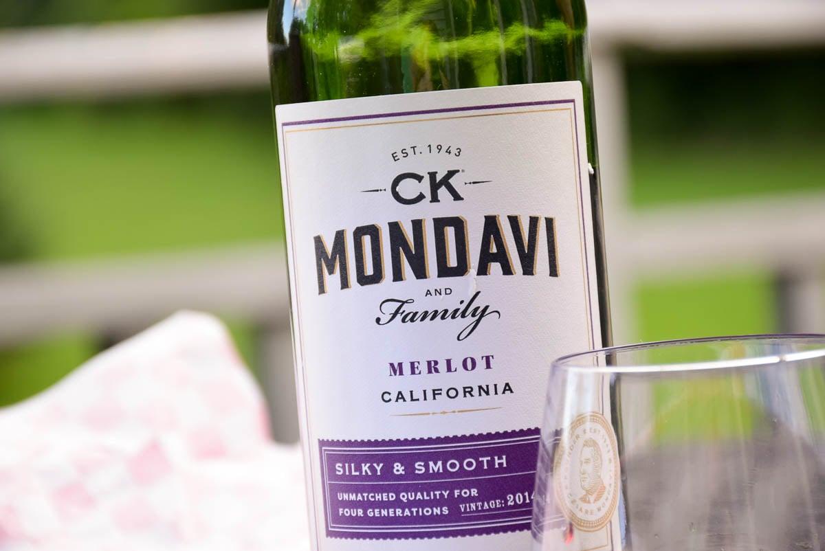 CK Mondavi Merlot label
