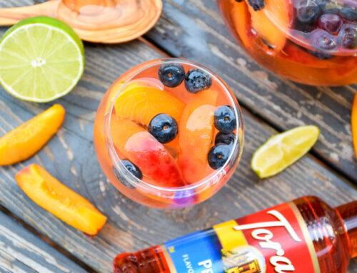Peach Sangria – Sparkling Summer Beverage
