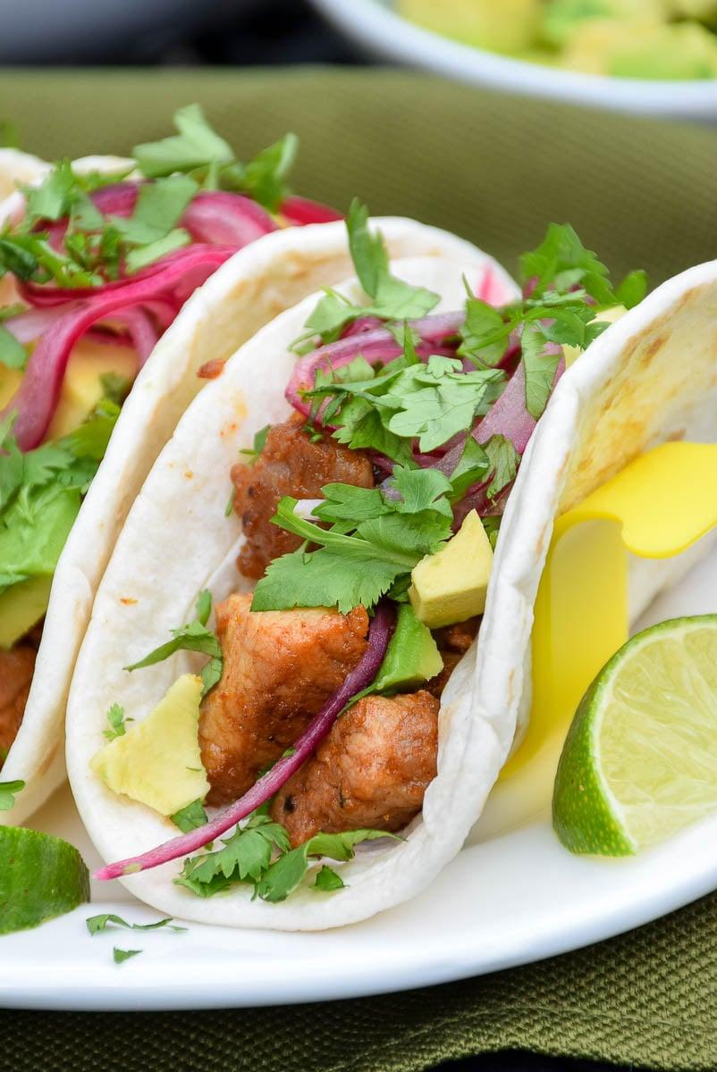 Easy Pork Street Tacos #RealFlavorRealFast