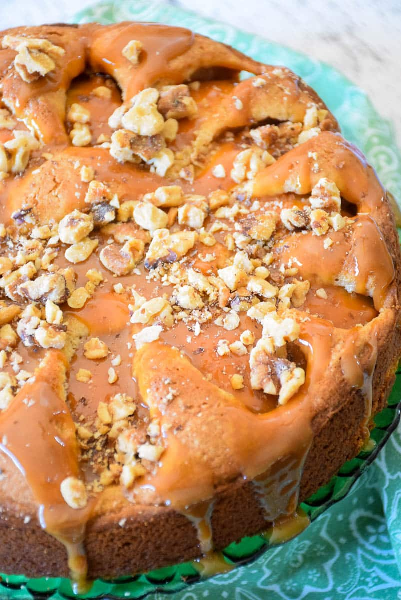 Salted Caramel Apple Cake 1-3