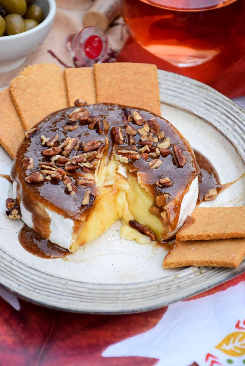 Baked Brie with Maple Pecan Topping