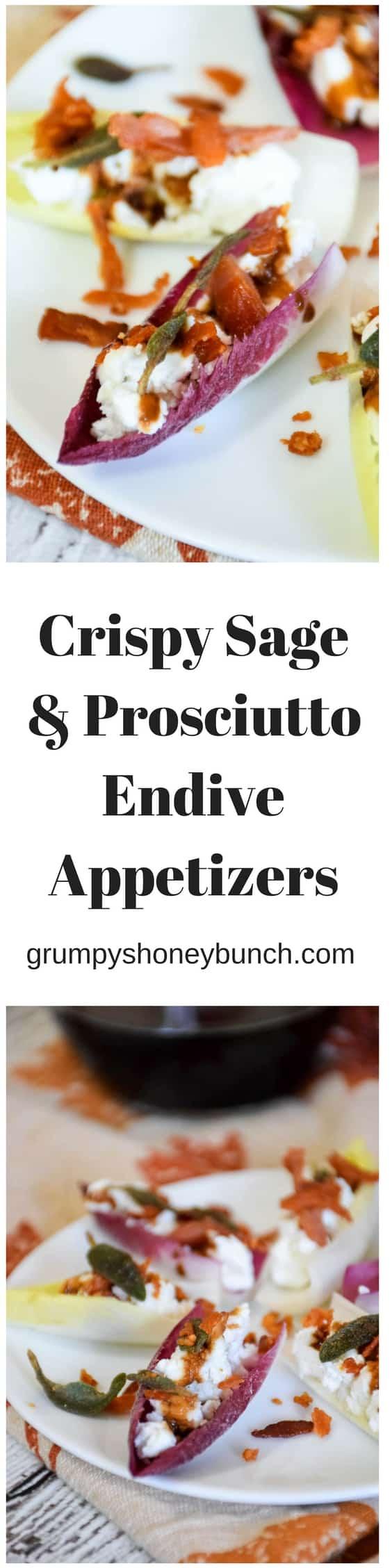 Crispy Sage & Prosciutto Endive Appetizers