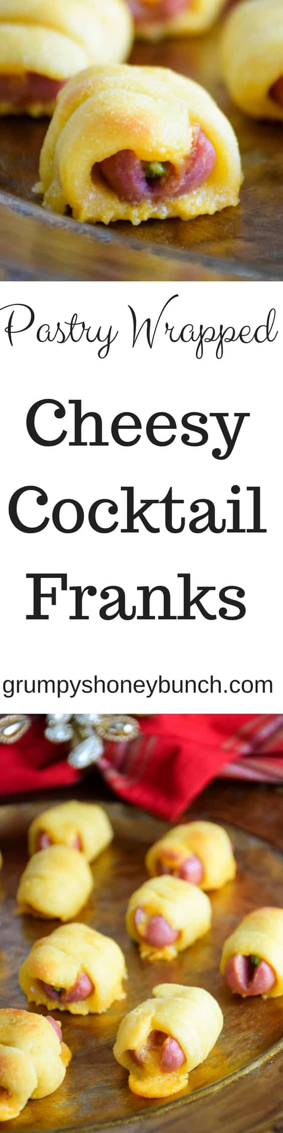 Pastry Wrapped Cheesy Cocktail Franks