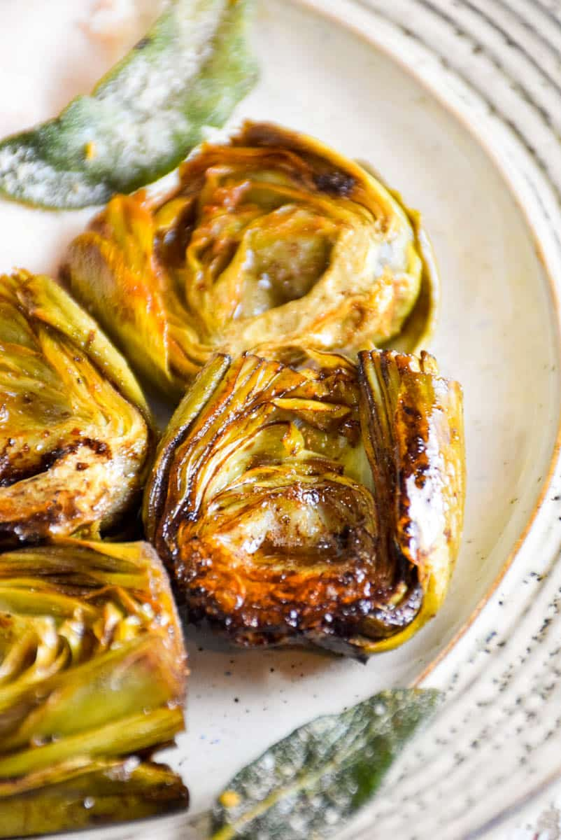 Balsamic Browned Butter Artichokes