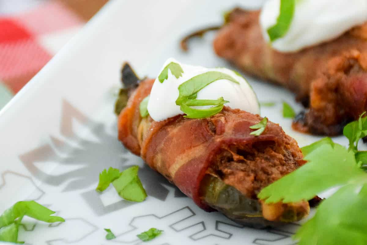 Keto Bacon Wrapped Stuffed Jalapenos