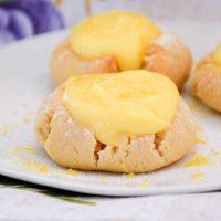 Low Carb Lemon Curd Thumbprint Cookies