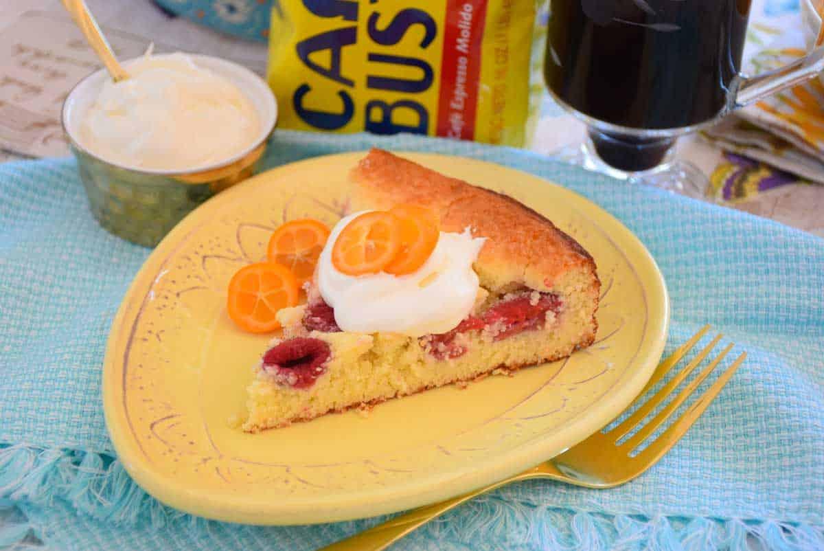 Low Carb Raspberry Coffeecake
