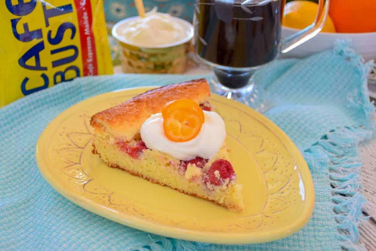 Low Carb Raspberry Almond Coffee Cake
