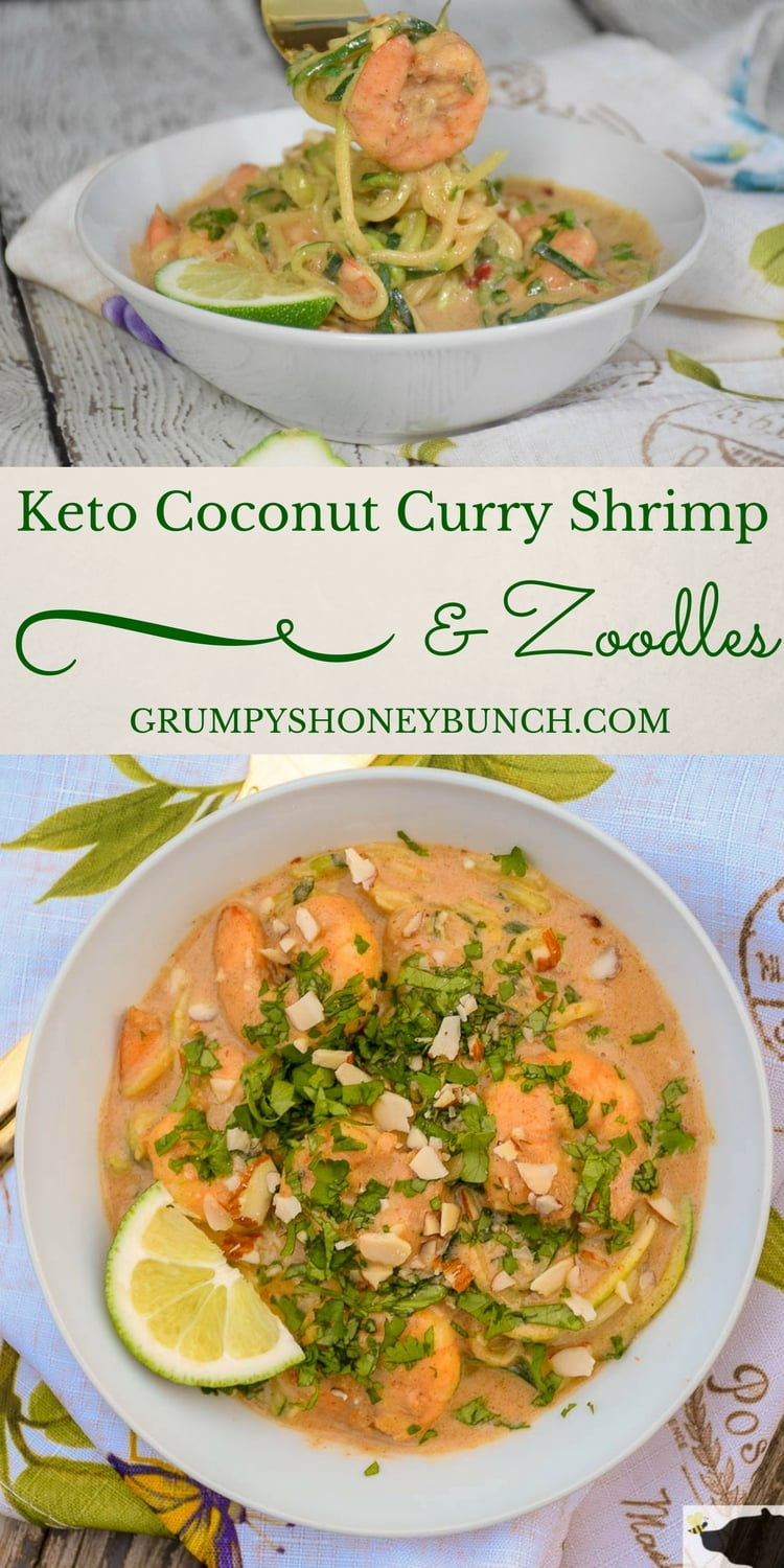 Keto Coconut Curry Shrimp and Zoodles